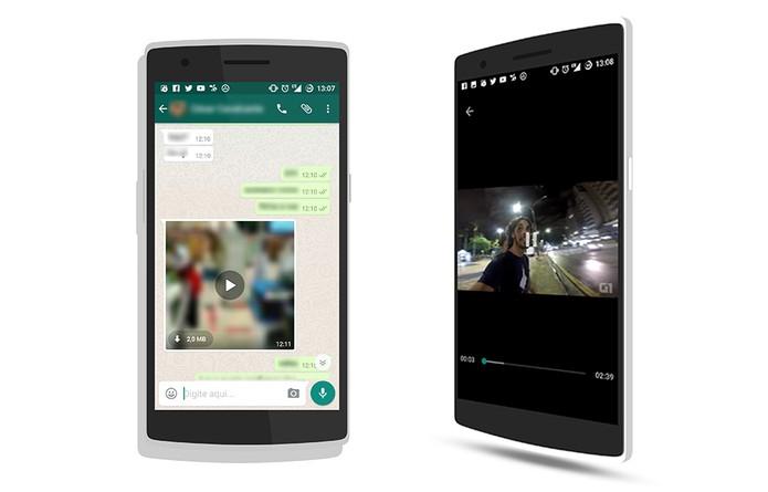 WhatsApp beta ganhou streaming de vídeo no Android (Foto: Reprodução/Elson de Souza)