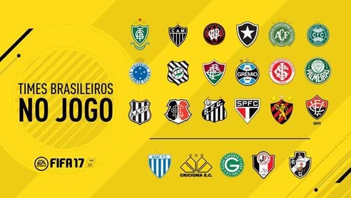 Fifa 17 confirma 23 clubes brasileiros  (Foto: Divulgação)