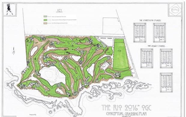 Campo de golf (Foto: Reprodução / Twitter)