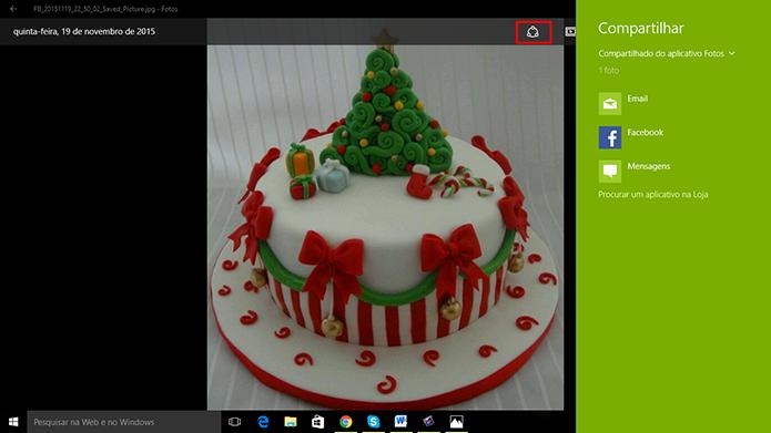 Windows 10 tem aplicativo de fotos capaz de compartilhar em redes sociais (Foto: Reprodução/Elson de Souza)