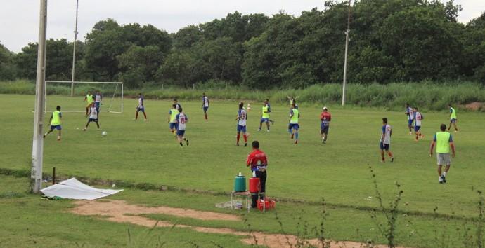 treino  Piauí (Foto: Abdias Bideh/GloboEsporte.com)