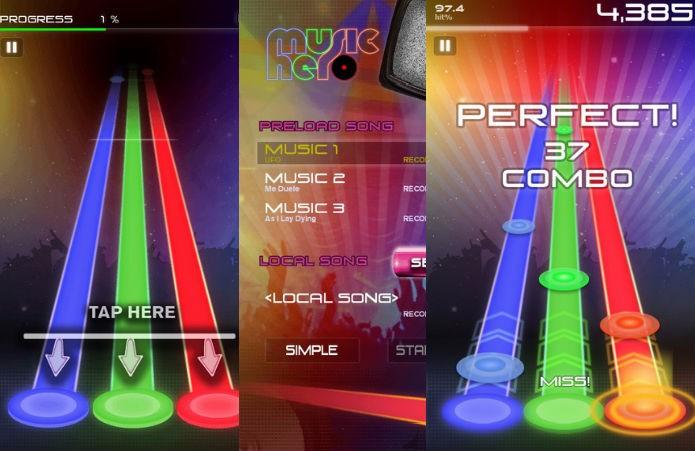 Music Hero: Três botões e três músicas, mas com customização (Foto: Divulgação)