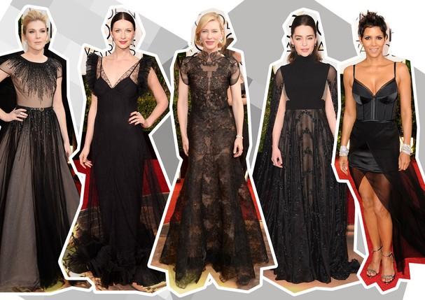 Vestidos pretos no Golden Globe (Foto: Getty Images)