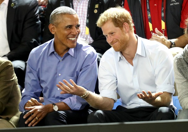 TORONTO, ON - SEPTEMBER 29:  Former U.S. President Barack Obama and Prince Harry on day 7 of the Invictus Games 2017 on September 29, 2017 in Toronto, Canada.  (Photo by Chris Jackson/Getty Images for the Invictus Games Foundation ) (Foto: Getty Images for the Invictus Games Foundation)