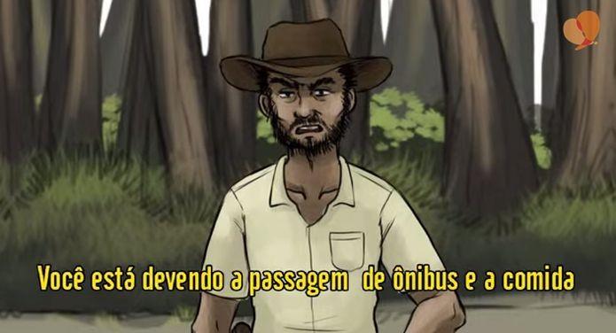 O jogo lida com situações baseadas em casos reais do trabalho escravo no Brasil (Foto: Divulgação)