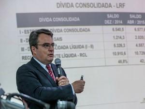 O secretário de Fazenda de Mato Grosso, Paulo Brustolin. (Foto: Chico Valdiner / GCom-MT)