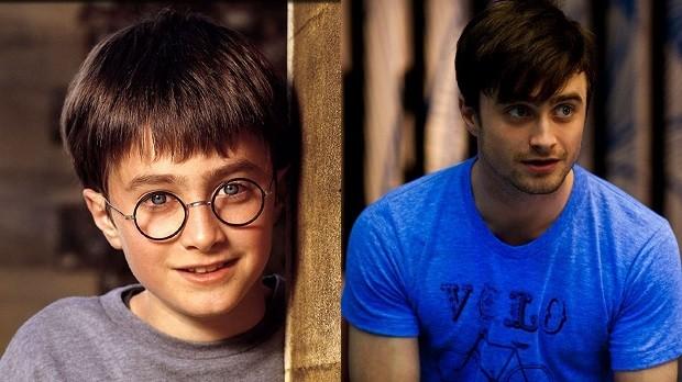Daniel Radcliffe em Harry Potter e a Pedra Filosofal e Será Que? (Foto: Divulgação)
