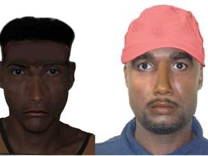 Polícia divulgou retrato falado de suspeitos (Foto: Polícia Civil/Divulgação)