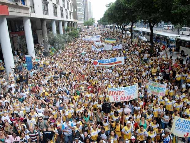 Marcha para Jesus reuniu milhares de fiéis no Centro do Rio (Foto: Alexandre Durão/ G1)