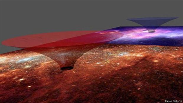 Cientista diz que, em teoria, túnel galático seria 'navegável'  (Foto: Paolo Salucci)