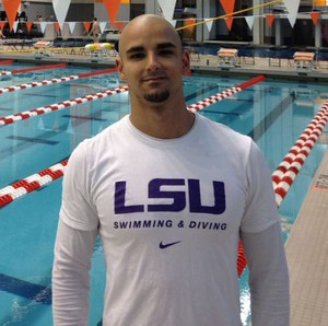 Nadador prudentino João Victor Mescolote (Foto: LSU ATHLETICS / Divulgação)