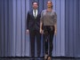 Gisele Bündchen ensina Jimmy Fallon a desfilar em programa de TV