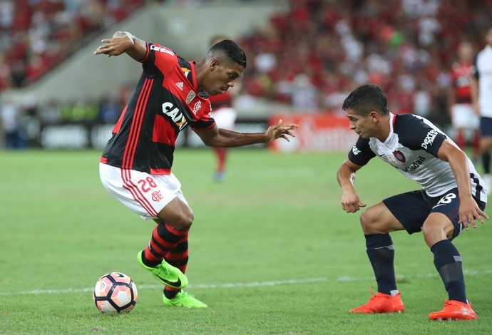 Berrío Flamengo x San Lorenzo (Foto: Gilvan de Souza/Flamengo)