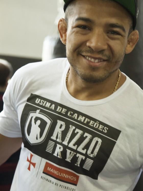 O campeão José Aldo marcou presença em evento do projeto de Pedro Rizzo, no Rio (Foto: Divulgação)