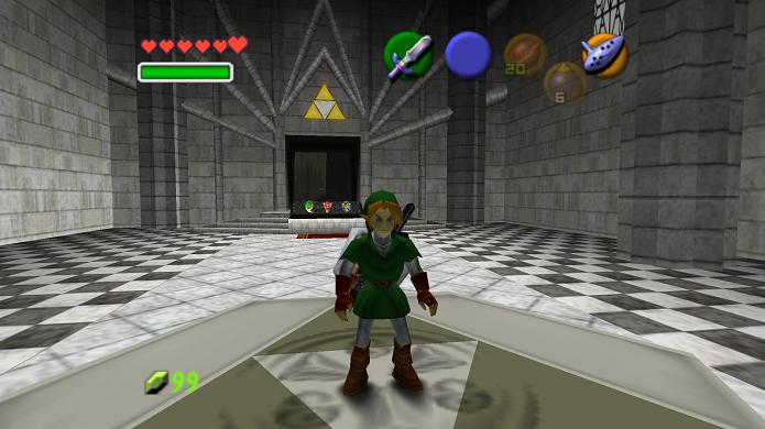 Link poderia ser apenas adulto em OoT (Foto: Reprodução/Thiago Barros)