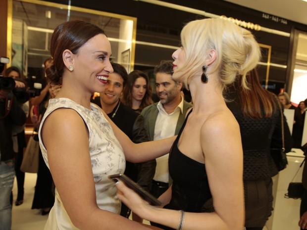 Suzana Pires e Mariana Ximenes em evento em São Paulo (Foto: Felipe Panfili/ Ag. News)