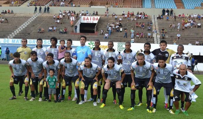 Elenco do Novoperário no Campeonato Sul-Mato-Grossense 2014 (Foto: Divulgação/Novoperário)