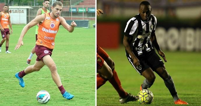 Desportiva, de Rael, e Botafogo, de Sassá, se enfrentam em janeiro no Espírito Santo (Foto: Montagem/GE)
