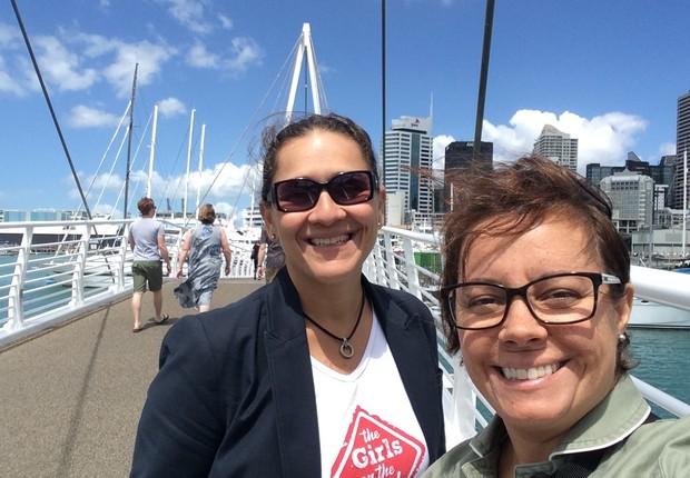 Fernanda e Taciana na Nova Zelândia (Foto: Divulgação)