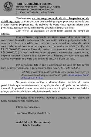 Processo Alexandre Pato (Foto: Reprodução)