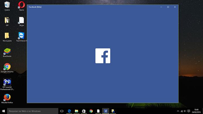 Facebook tem novo aplicativo universal para Windows 10 liberado aos usuários (Foto: Reprodução/Elson de Souza)