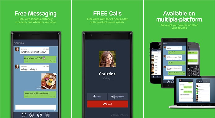 Line é um aplicativo de mensagens gratuito que aposta nos stickers e também em chamadas pela Internet (Foto: Divulgação/Windows Phone Store)