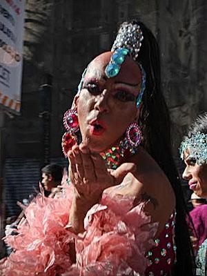 Parada gay (Foto: Caio Kenji/G1)