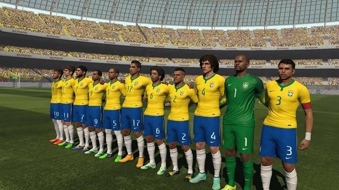 Seleção brasileira pode ser customizada pelo usuário (Foto: Reprodução/Thiago Barros)