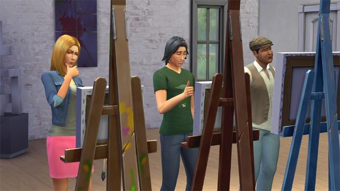 Confira como se tornar um grande pintor em The Sims 4 (Foto: simcitizens.com)