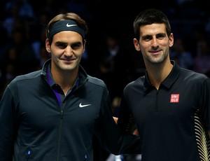 federer djokovic londres atp finals tênis (Foto: Getty Images)