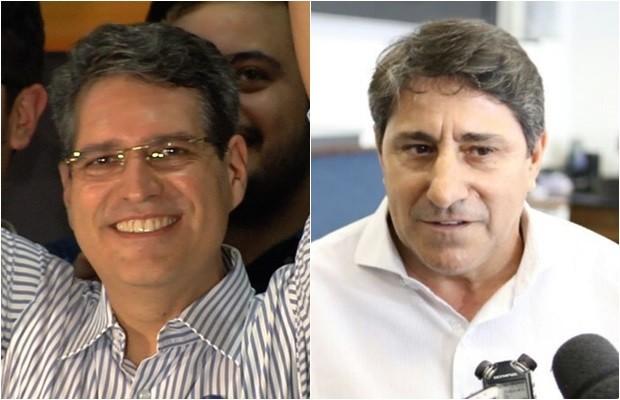 Candidato Francisco Júnior (PSD) e seu vice, Coronel Pacheco (PTB) (Foto: Montagem/G1)