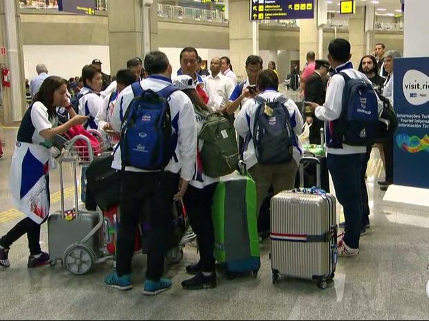 Delegações paralímpicas começam a chegar ao Rio (Foto: Reprodução/ TV Globo)