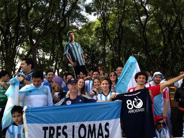 Argentinos estão no Estádio Beira-Rio (Foto: Caetanno Freitas/G1)
