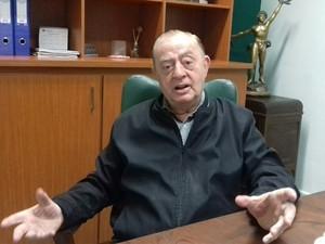 Aloysio Ribeiro de Almeida, presidente da Associação Comercial de Varginha (Foto: Lucas Soares/G1)