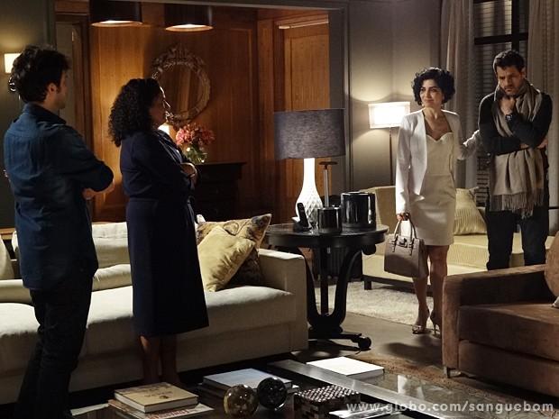 Verônica traz Natan para passar uns dias com ela e Maurício (Foto: Sangue Bom / TV Globo)