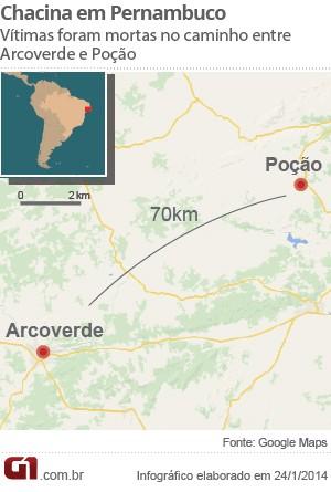 Localizador chacina Poção (Foto: Arte/G1)