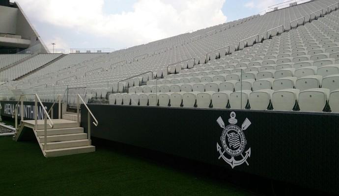 Placas Arena Corinthians (Foto: Divulgação)