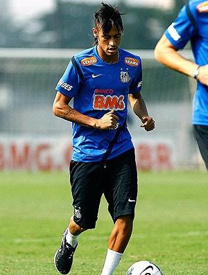 Neymar no treino do Santos (Foto: Ricardo Saibun / Divulgação Santos FC)