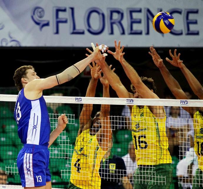 Brasil x Rússia - fase final Liga Mundial de vôlei (Foto: FIVB)