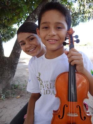 Irmãos na Orquestra (Foto: Luna Markman/G1)