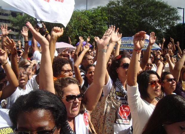 Professores recusam proposta do MP-BA e greve continua na Bahia (Foto: Jairo Gonçalves/ G1)