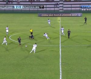 Botafogo x Atlético-MG (Foto: Reprodução SporTV)