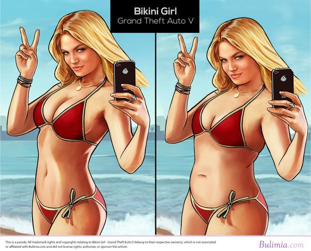"""A garota do pôster de """"GTA V"""" também foi retratada (Foto: Divulgação/Bulimia.com)"""