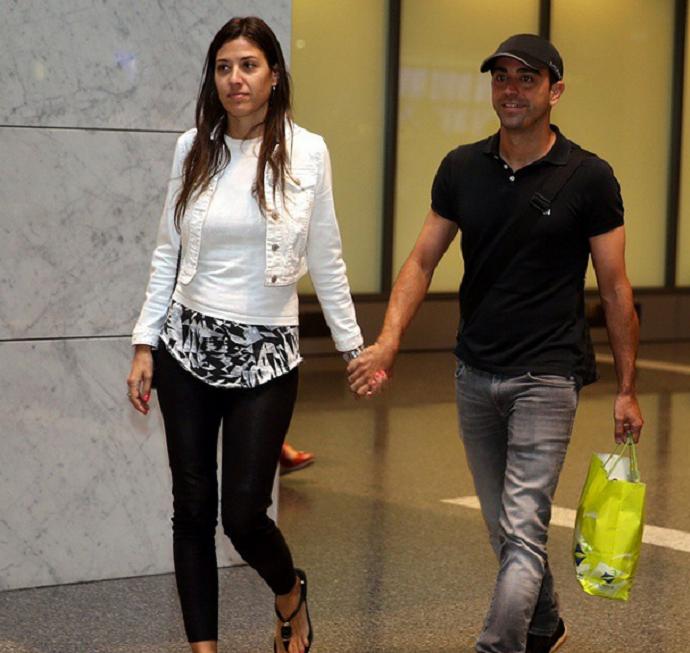 Xavi com a esposa Nuria Cunillera no Catar (Foto: Reprodução / Instagram)