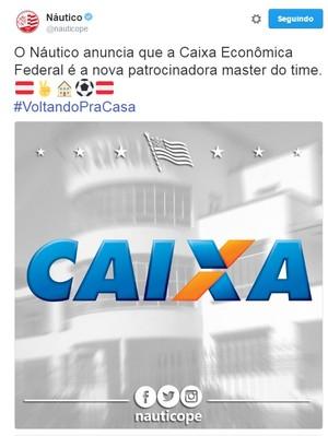 Náutico Caixa  (Foto: Reprodução/Twitter)