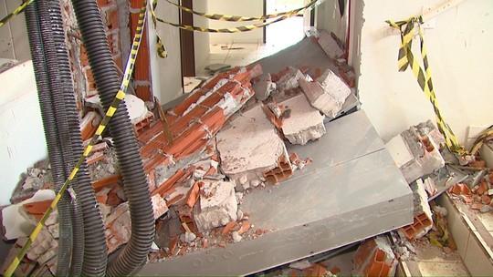 Começa limpeza de prédio danificado por explosão em Cascavel, no Paraná