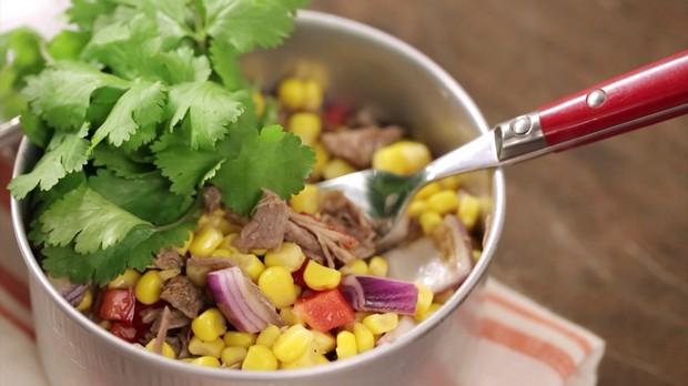 Salada mexicana com msculo (Foto: Divulgao/GNT)