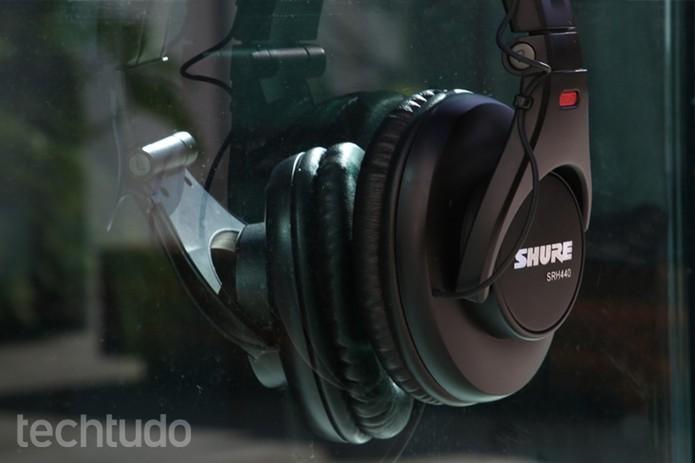 Shure SRH440 (Foto: Carolina Ochsendorf/TechTudo)