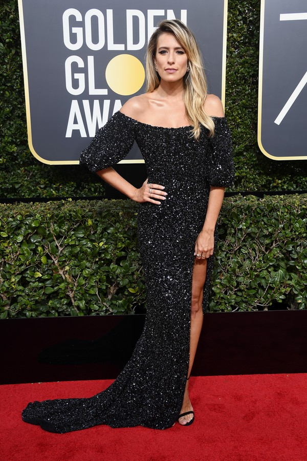 BEVERLY HILLS, CA - JANUARY 07:  TV personality Renee Bargh attends The 75th Annual Golden Globe Awards at The Beverly Hilton Hotel on January 7, 2018 in Beverly Hills, California.  (Photo by Frazer Harrison/Getty Images) (Foto: Getty Images)