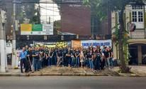 Servidores federais protestam contra a extinção da CGU, em Belém (Ana Paula Gama/G1)